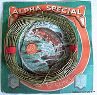 1- Alpha pure silk vintage fishing line