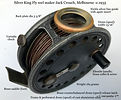 1-Vintage Silver King Fly reel made in Australia by Jack Crouch