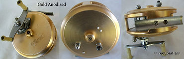 3-Clasmi vintage Gold anodized Fly fishing reel
