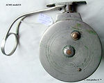 2- Acme D vintage side cast fishing reel