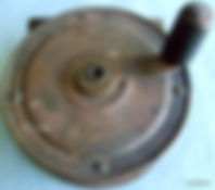 Rare EBRO brass fly fishing reel made in Australia by Rogers brothers, Melbourne.