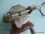 Vintage G E S wood & metal side-cast fishing reel press lever action turn table made in Australia