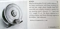 2- BONZA vintage Fly fishing reel made i
