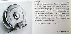 2- BONZA vintage Fly fishing reel made i