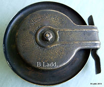 EBRO all brass trout fishing reel made in Australia by Rogers brothers, Melbourne. Extremely rare semi-backless modle.