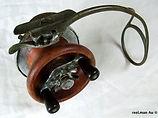 ALVEY Wedge-lock wood and metal vintage side cast fishing reel