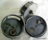 WILLIAMS A 21 vintage fishing reel internal gear housing view made in Australia.
