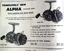 ALPHA model 404, 408 vintage threadline