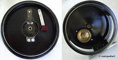 1-CLASMI vintage Fly fishing reel; Back anodized model