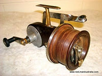 Vintage Seamartin style fishing reel made by Guss Suffmayer - Australia