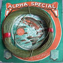 ALPHA vintage  Linen Fishing Line made in Melbourne, Australia.