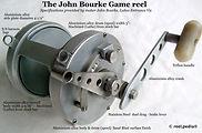 1-Game fishing reel specifications, maker John Bourke Australia