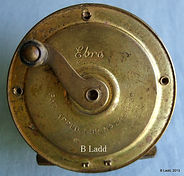 EBRO old brass fly fishing reel made in Australia by Rogers brothers, Melbourne around 1930.