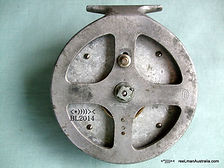 HALCO early vintage Non Star-Drag Fishing reel back plate view. Rare