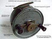 BARRIER vintage game fishing reel specif
