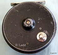 EBRO Fly Fishing reel, back image, Rare Model 53.