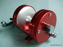 Red anodised Magna-Flite vintage fishing reel