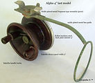 1- ALPHA 4'' side cast reel last model S