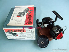 Early Capstan 77 Thread-line spinning reel presented with original box & specfication guide booklet, Very Rare