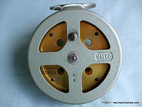 HALCO vintage Gold anodized Non Star-Drag Fishing reel Back plate view.