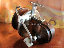 SEAMARTIN wood reel, Teflon block line guide. Rare version modle two.