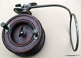 2- Thompson wood & brass vintage side cast fishing reel made in Australia
