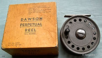 1- DAWSON vintage FLY REEL & early box