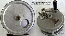 2- Crouch C7 vintage fishing reel & Box.