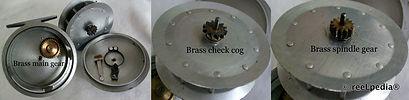 1-Clasmi vintage Fly fishing reel double etch inscription model internal view