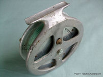 HALCO early vintage Star-Drag Fishing reel, side image.