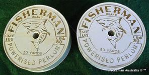 1- FISHERMAN Brand PERLON vintage fishin