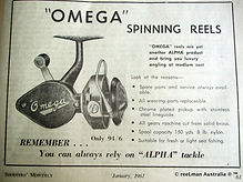 ALPHA OMEGA Threadline vintage spinning