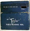 2- TAYLOR vintage fishing reel Sleeve Be