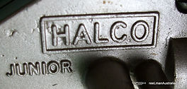 HALCO Junior vintage Thread-line spinning reel, embossed HALCO Junior on gear housing side plate      Extremely rare modle -c 1953.