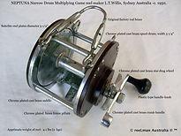NEPTUNA vintage game reel -Narrow drum s