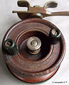 2- LAN MOR vintage side cast reel made i