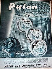 PYLON Gut vintage Fishing Line advertisement.