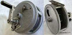 4- Crouch C7 vintage fishing reel. Made