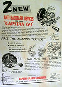 CAPSTAN 69 vintage fishing reel advertis
