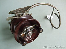 Rare vintage Alvey Wedge-lock fishing reel.