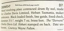 2-DERWENT Fly reel  Bob Dunn AFR Book re