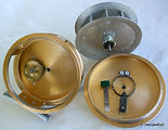 4-Clasmi vintage Gold anodized Fly fishing reel made in Australia