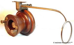 TOWNSON vintage brass & wood side cast f