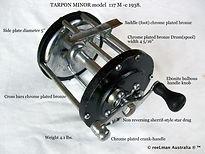 TARPON MINOR vintage  game fishing reel made in Australia
