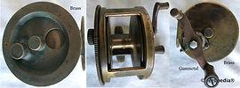 2-Vintage Brass fishing reel