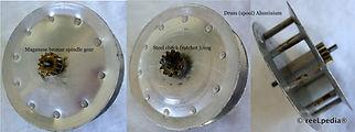 4-Clasmi  vintage fly fishing reel Spools