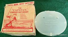 1- CAPSTAN vintage fishing Bait Station & Box made in Australia