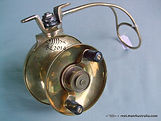 LEES Brass model T side-cast fishing reel. Extremely rare!