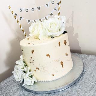 Buttercream Baby Shower Cake.
