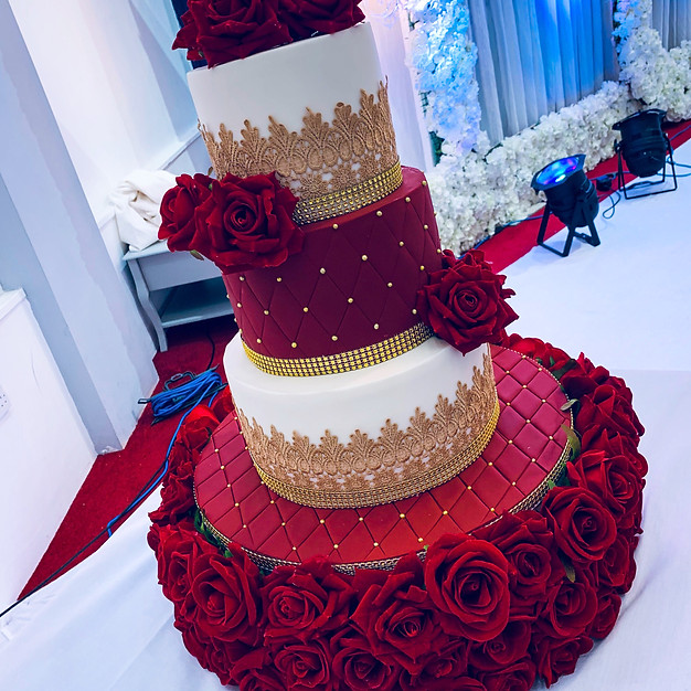 3 Tier Asian Wedding Cake.